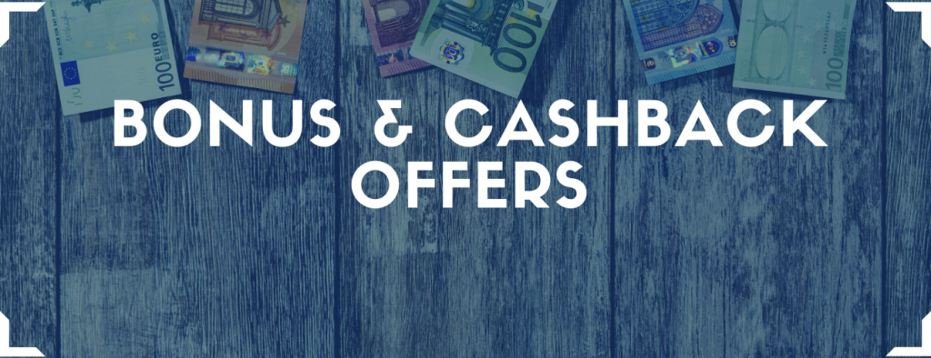 referral codes, bonus and cashback offers